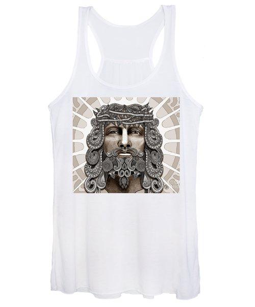 Redeemer - Modern Jesus Iconography - Copyrighted Women's Tank Top