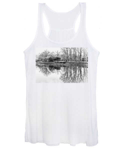 Reflection In Black And White Women's Tank Top