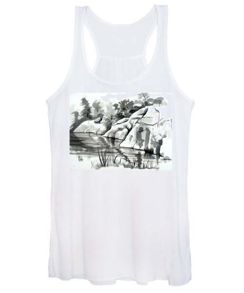 Reflections At Elephant Rocks State Park No I102 Women's Tank Top