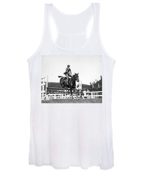 Rider Jumps At Horse Show Women's Tank Top