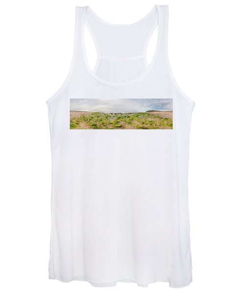 River Delta And Wetlands At Low Tide Women's Tank Top