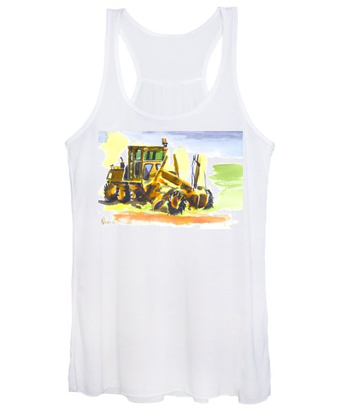Roadmaster Tractor In Watercolor Women's Tank Top