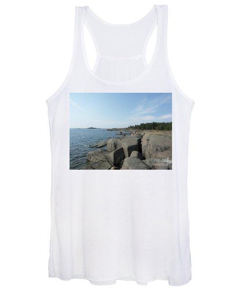 Rocky Seashore 2 In Hamina  Women's Tank Top