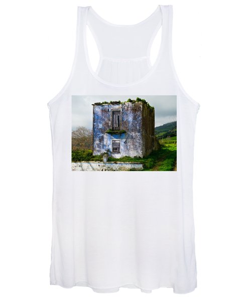Ruins Of House Painted Blue Women's Tank Top