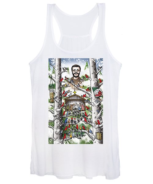 St. Francis And The Birds Women's Tank Top