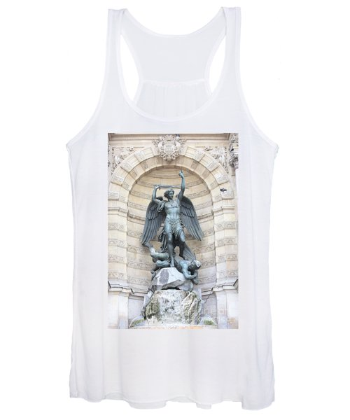 Saint Michael The Archangel In Paris Women's Tank Top