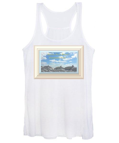 Sand Dolphins - Digitally Framed Women's Tank Top