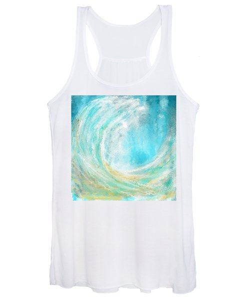 Seascapes Abstract Art - Mesmerized Women's Tank Top