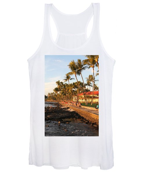 Seawall At Sunset Women's Tank Top