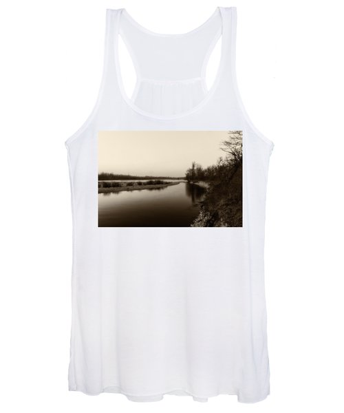 Sepia River Women's Tank Top