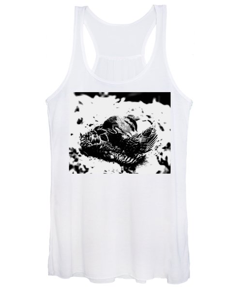 Women's Tank Top featuring the photograph Shy In Black N White by John Feiser