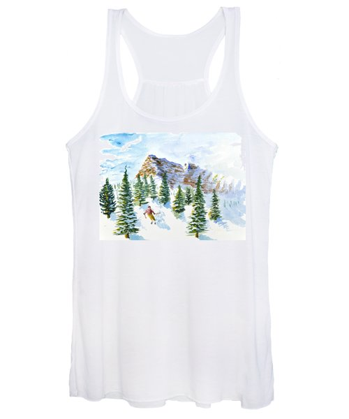 Skier In The Trees Women's Tank Top