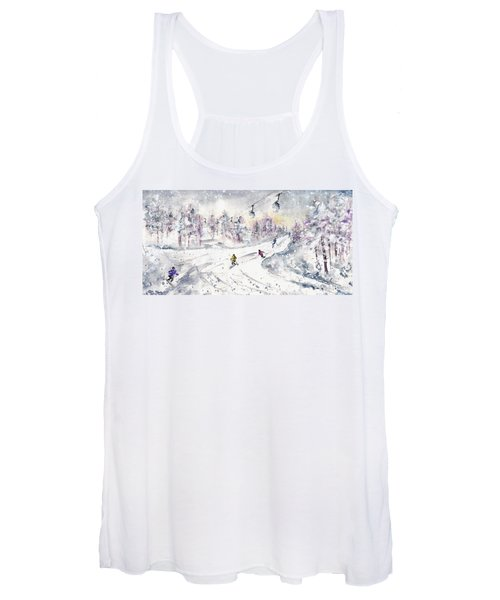 Skiing In The Dolomites In Italy 01 Women's Tank Top