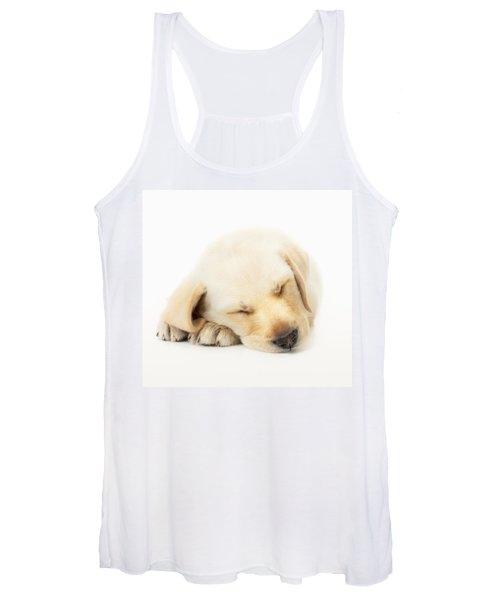Sleeping Labrador Puppy Women's Tank Top