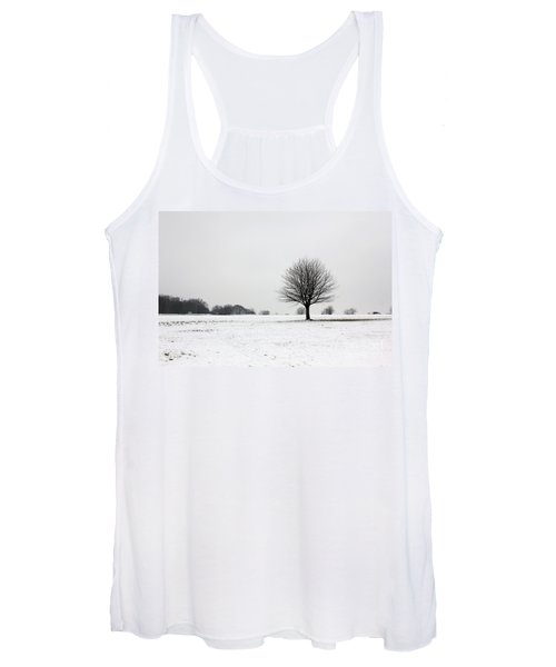 Snow On Epsom Downs Surrey England Uk Women's Tank Top