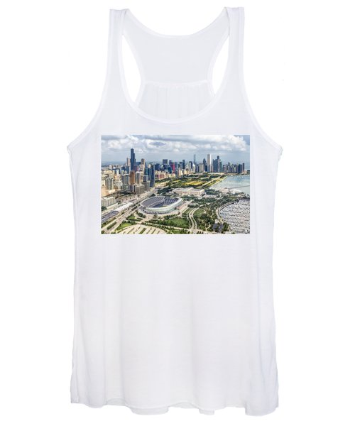 Soldier Field And Chicago Skyline Women's Tank Top