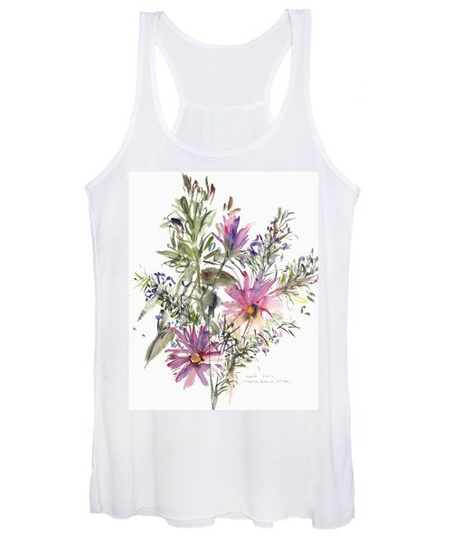 South African Daisies And Lavander Women's Tank Top