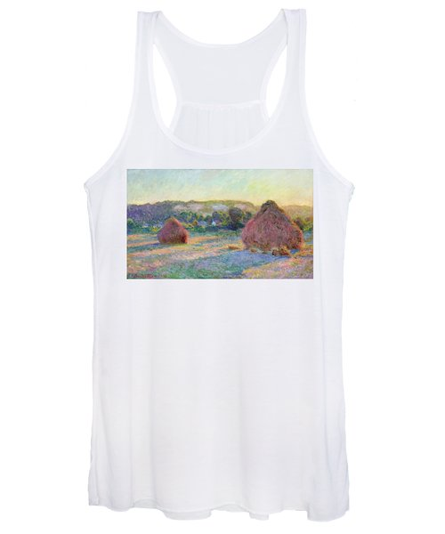 Stacks Of Wheat. End Of Summer Women's Tank Top