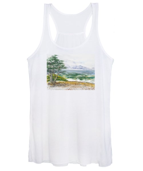 Stormy Morning At Carmel By The Sea California Women's Tank Top