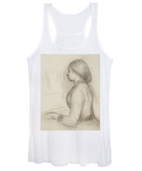 Study Of A Young Girl At The Piano Women's Tank Top
