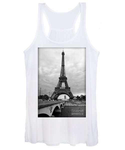Summer Storm Over The Eiffel Tower Women's Tank Top