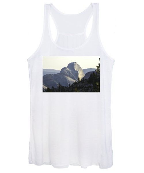 Sunset At Half Dome From Olmsted Pt Women's Tank Top