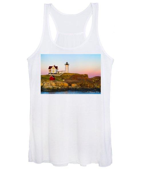 Sunset At Nubble Lighthouse Women's Tank Top