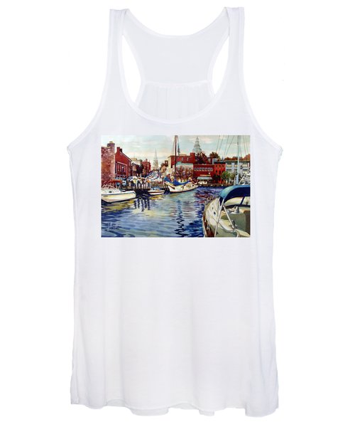 Sunset On The Harbor Women's Tank Top