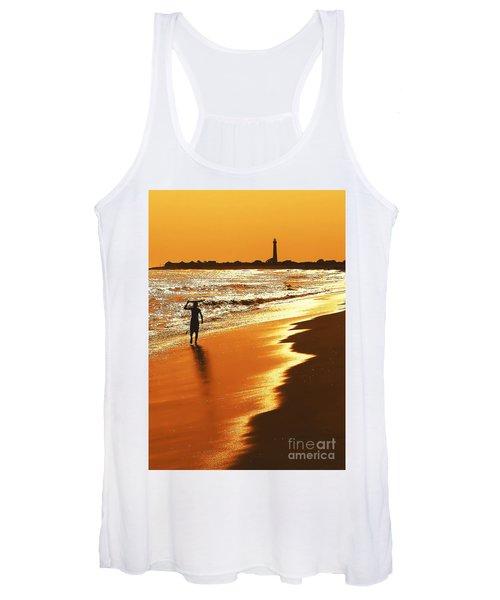 Sunset Surfer Women's Tank Top