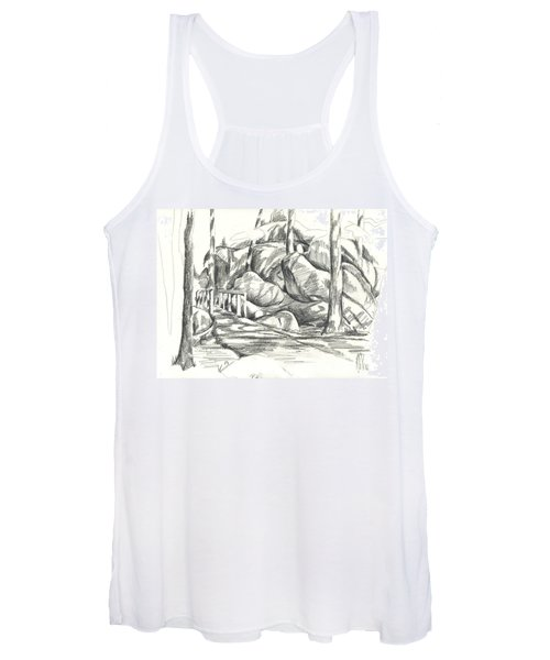 Swirling Cast Shadows At Elephant Rocks  No Ctc101 Women's Tank Top