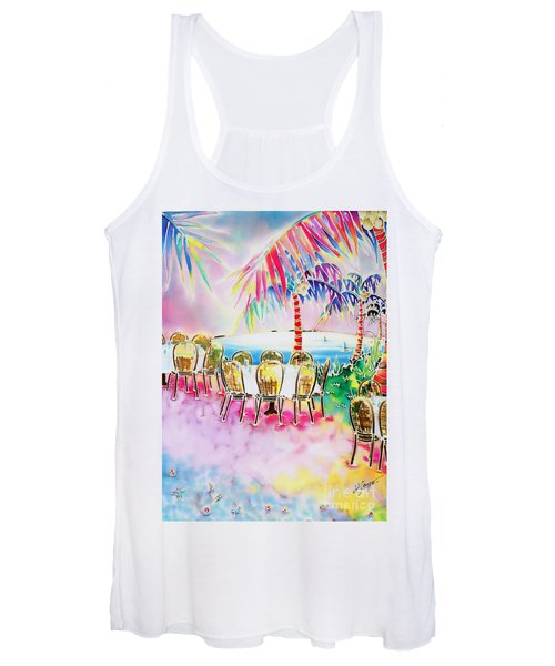 Tables On The Beach Women's Tank Top