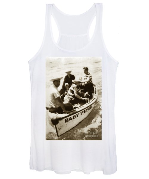 The Baby Flyer With Ed Ricketts And John Steinbeck  In Sea Of Cortez  1940 Women's Tank Top