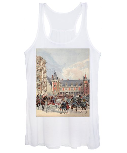 The Court In Chateaus Of The Loire Women's Tank Top