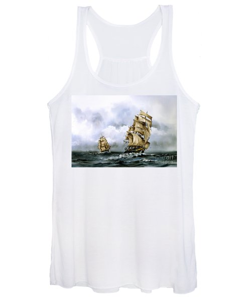 The Cutty Sark And The Red Clipper Women's Tank Top