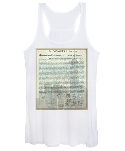 The Declaration Of Independence - Freedom Tower Women's Tank Top