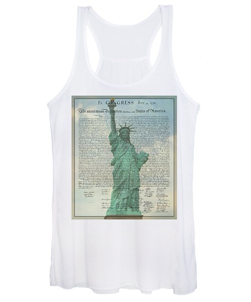 The Declaration Of Independence - Statue Of Liberty Women's Tank Top