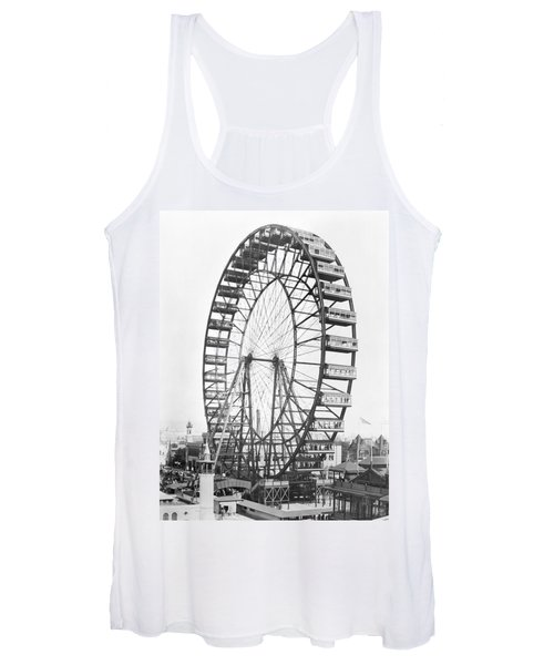 The Ferris Wheel At The Worlds Columbian Exposition Of 1893 In Chicago Bw Photo Women's Tank Top