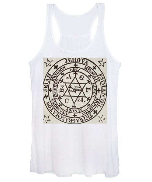 The Great Magic Circle Of Agrippa For The Evocation Of Demons Women's Tank Top