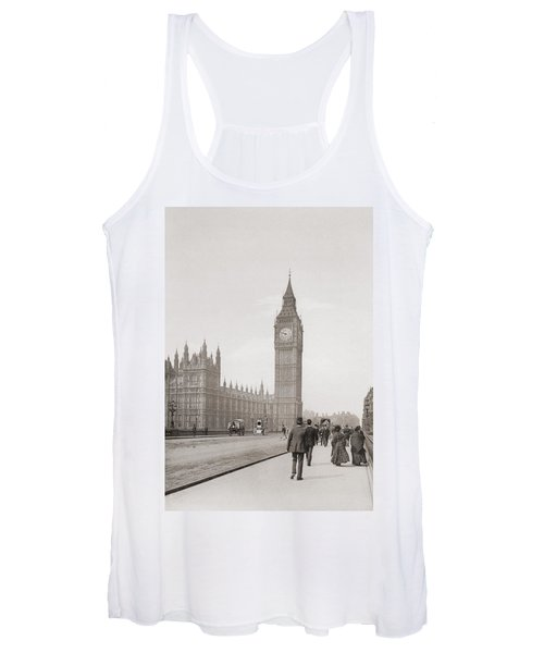 The Palace Of Westminster, Aka The Houses Of Parliament Or Westminster Palace, London, England Women's Tank Top
