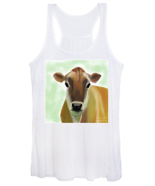 The Pretty Jersey Cow  Women's Tank Top