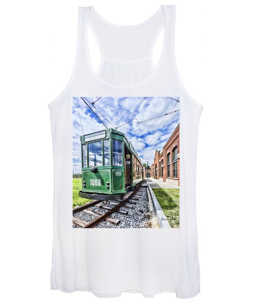 The Stib 1069 Streetcar At The National Capital Trolley Museum I Women's Tank Top