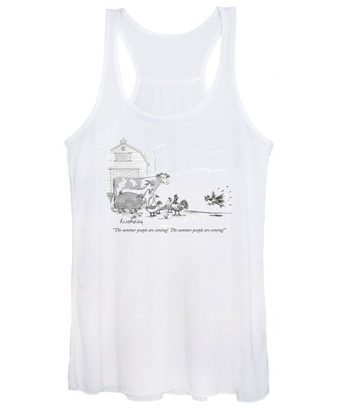 The Summer People Are Coming!  The Summer People Women's Tank Top
