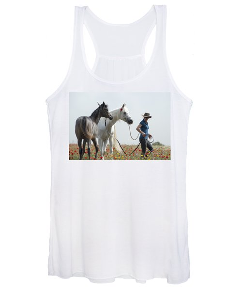 Three At The Poppies' Field... 1 Women's Tank Top