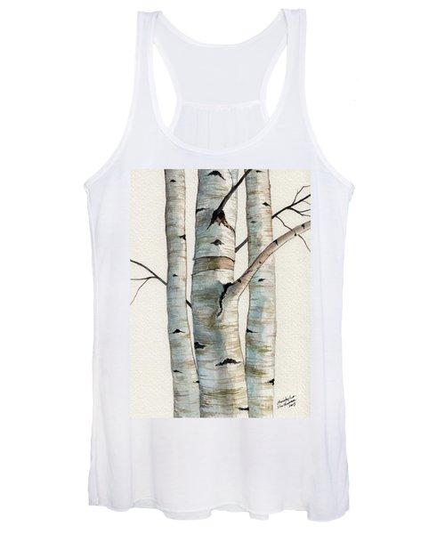 Three Birch Trees Women's Tank Top