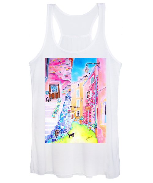 Three Cats In The Alley Women's Tank Top