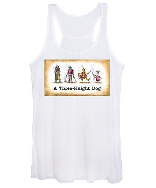 Three Knight Dog Women's Tank Top
