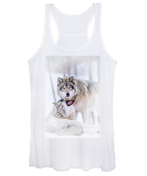 Timber Wolf Pictures 56 Women's Tank Top