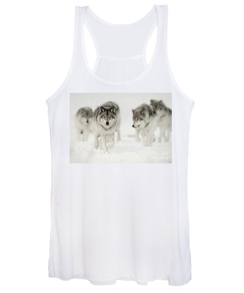 Timber Wolf Pictures 65 Women's Tank Top