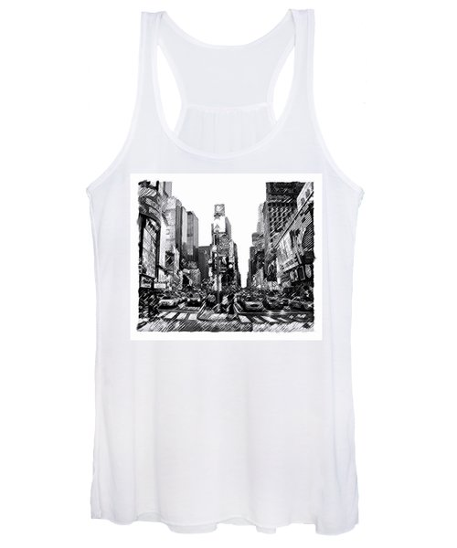 Times Square   New York City Women's Tank Top