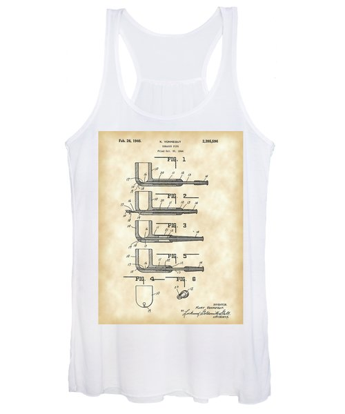 Tobacco Pipe Patent 1944 - Vintage Women's Tank Top